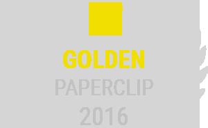 golden paperclip